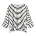 LuckyMore - LuckyMore Women's Casual 3/4 Raglan Sleeve Round Neck Striped T-Shirt Tops - Camiseta sem manga - $26.00  ~ 22.33€