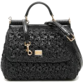 beautifulplace - MEDIUM RAFFIA CROCHET SICILY BAG D&G - Torbice -