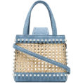 beautifulplace - MEHRY MU blue Mini Fey Denim and Rattan - Hand bag -