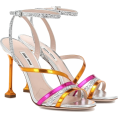 thenycbaglady - MIU MIU Metallic leather sandals - Sandale -