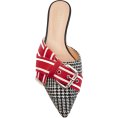 martinabb - MONSE Glen Plaid Racing Stripe Mule - Natikače -