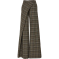HalfMoonRun - MONSE plaid asymmetrical trouser - Calças -