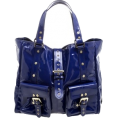 HalfMoonRun - MULBERRY blue patent leather bag - Hand bag -