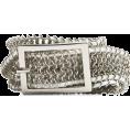 Mango - Mango Women's Braided Metallic Belt Silver - Belt - $49.99