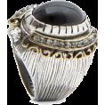 Mango - Mango Women's Circular Dome Ring Black - Rings - $29.99