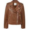sandra  - Mango brown biker jacket - Jacket - coats -