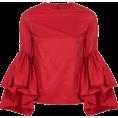 ValeriaM - Marques Almeida Ruffled Sleeve Top - Long sleeves shirts -