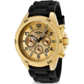 Invicta - Mens I By Invicta Rubber Chronograph Gold Tone Rotating Bezel Date Watch Ibi-10015-003 - Watches - $79.95