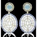 glamoura - Misahara Plima 18K Gold, Aquamarine, Sap - Uhani -