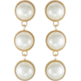 Mees Malanaphy - Missguided DROP cream earrings - Earrings - $12.00
