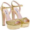 Lady Di ♕  - Miu Miu Sandals Gold - Sandals -