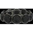 sharee64 - Mixit™ Black Stone Silver-Tone Stretch B - Bracelets - $12.00