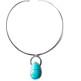 rebelsoul50 - Modern Bohemian Turquoise Choker - Necklaces - $153.00