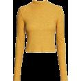 Aurora  - Mustard Turtle Neck Crop - Long sleeves shirts -
