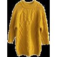 beautifulplace - Mustard oversized sweater - Pullovers -