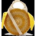 sandra  - Muuñ Yellow Rosa Straw Bag - Poštarske torbe -