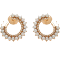 HalfMoonRun - NOUVEL HERITAGE diamond & pearl earrings - Ohrringe -