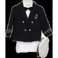 FineBrandShop - Navy Blue Boys & Baby Boy Captain Sailor Tuxedo Special Occation Suit, White Pants, Jacket, Bowtie, Shirt, Hat - Jacket - coats - $33.90