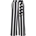 DotingSage - Newlook Black Stripe Tie Waist Trousers - Capri & Cropped - £19.99  ~ $26.30