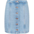 whisper - New look Bright Blue Denim Button Front  - Skirts - £19.99  ~ $30.98