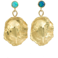 Georgine Dagher - ORIT ELHANATI Ocean Shield opal earrings - Uhani -