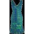My Lulu Closet - Oil Print Ruffled Bandage - Dresses - $140.00