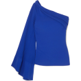 selenachh - One-shoulder pintucked crepe top - Cardigan -
