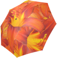 Rockin Docks  - Orange Daylilies Foldable Umbrella - Accessories - $19.88