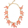 sandra  - Oscar de la renta coral necklace - Necklaces -