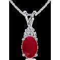 Angara Inc.  - Oval Ruby V-Bale Pendant - Necklaces - $479.00