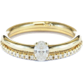 aazraa - Oval Diamond Unique Engagement Rings Set - Obroči -