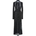 HalfMoonRun - PACO RABANNE velvet long sleeve dress - Dresses -