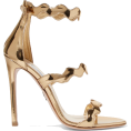 neverorever  - PRADA Scalloped metallic leather sandals - Сандали -