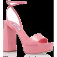 HalfMoonRun - PRADA pink patent leather heel sandal - Sandali -
