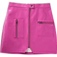 FECLOTHING -  PU bag hip leather skirt - Skirts - $25.99