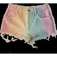 Jay Han - Pastel Rainbow Jean Shorts - Брюки - короткие -