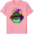 Jay Han - Pastel Witch Cauldron Tee - Shirts - kurz -