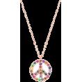 aazraa - Peace Sign Unique Pendant Necklace,Rainb - Necklaces -