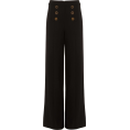 sandra  - Phase Eight Button Wide Leg Trousers - Capri & Cropped -