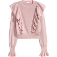 LadyDelish - Pink Frill Jumper  - Pullovers -