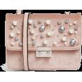 Aurora  - Pink Velvet Embellished Bag - Hand bag -