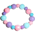 Jay Han - Pink and Blue Beaded Bracelet - Pulseiras -
