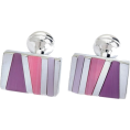 Maria Kuroshchepova - Pink purple cufflinks (K Beckett) - Other jewelry -