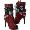 BlueKnight - Plaid Studded Boots  - Botas -