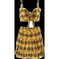 FECLOTHING - Plaid Vest Pleated Skirt Set - Dresses - $25.99