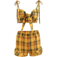 FECLOTHING - Plaid vest wide leg pants suit - Vestidos - $25.99  ~ 22.32€
