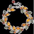 sharee64 - Platinum Over Silver Amber Butterfly Bra - Bracelets - $180.00