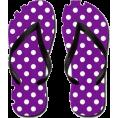 lence59 - Polka Dot Flip Flops - Cinturini -