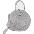 DotingSage - PrettyLittleThing SILVER STRAW ROUND CRO - Hand bag - £25.00  ~ $32.89