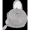 DotingSage - PrettyLittleThing SILVER STRAW ROUND CRO - Hand bag - £25.00  ~ $38.75